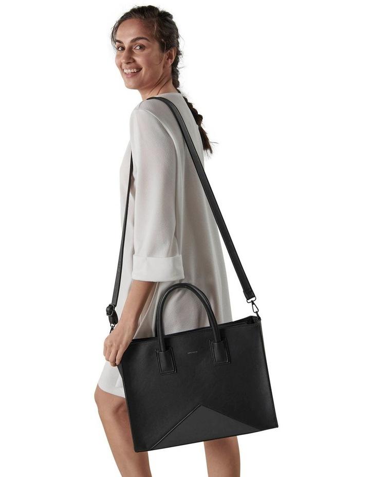 Greta Double Handle Black Tote Bag image 5