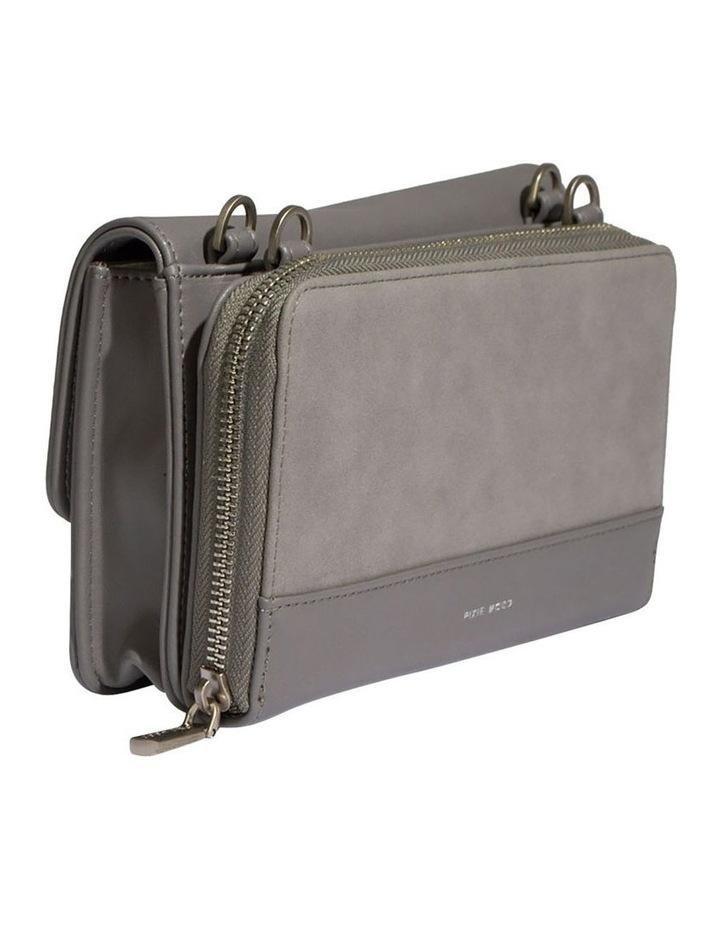 JAN219-CB-03 Jane Flap Over Grey Wallet Crossbody Bag image 3