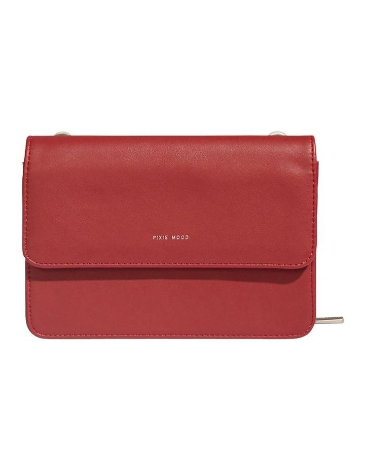 JAN219-CB-04 Jane Flap Over Red Wallet Crossbody Bag image 1