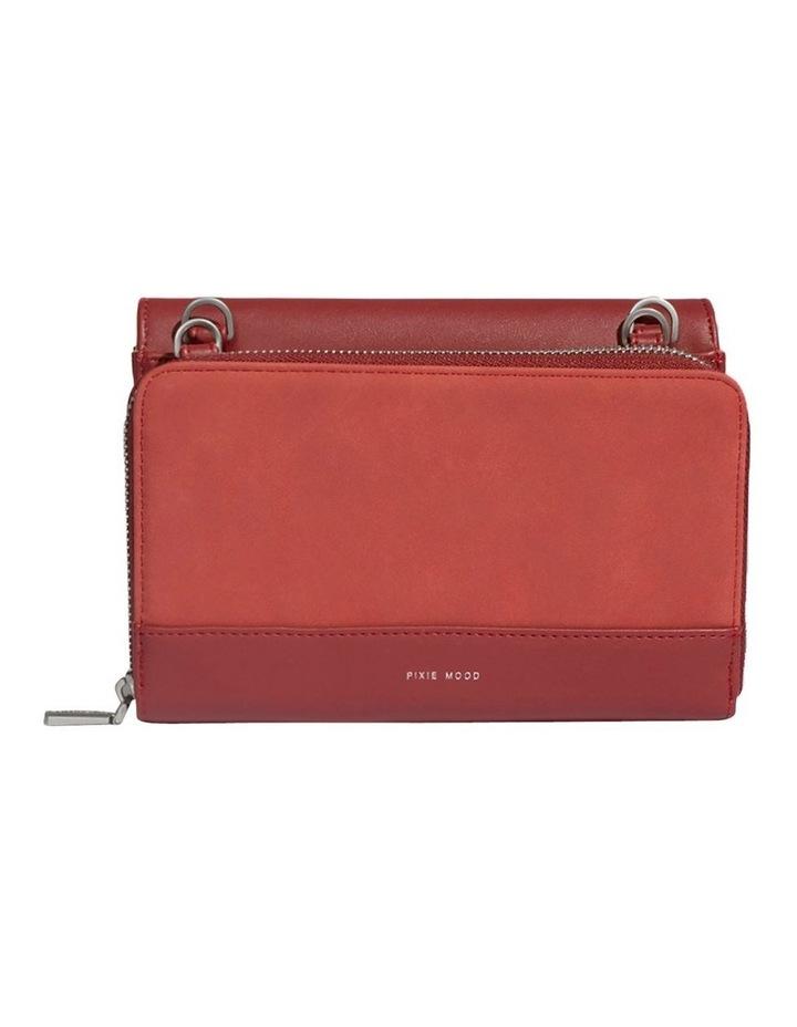 JAN219-CB-04 Jane Flap Over Red Wallet Crossbody Bag image 2
