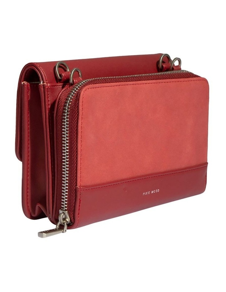 JAN219-CB-04 Jane Flap Over Red Wallet Crossbody Bag image 3