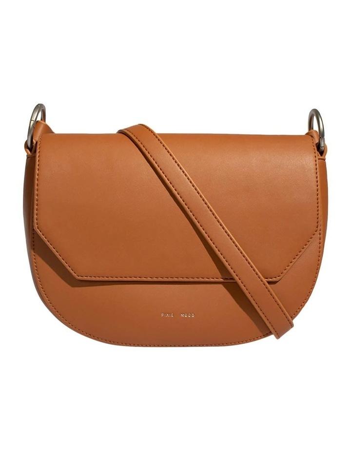 KEN219-CB-02 Kendra Flap Over Tan Crossbody Bag image 1