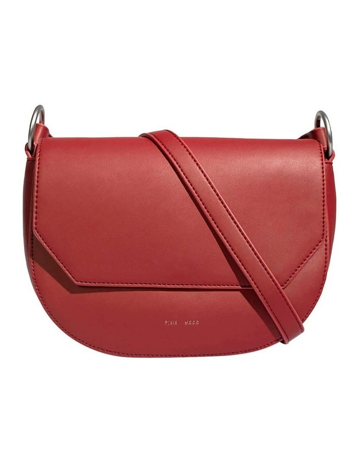KEN219-CB-04 Kendra Flap Over Red Crossbody Bag image 1