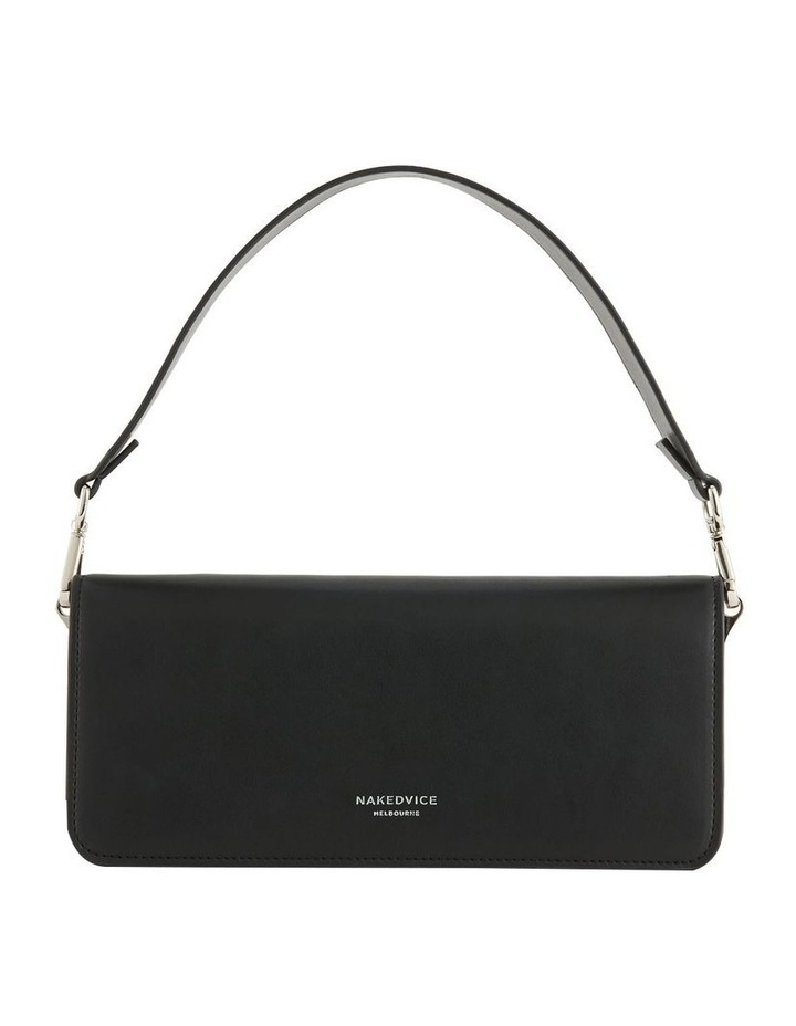 NVAW20-SB10 The Preston Flap Over Black Shoulder Bag image 3