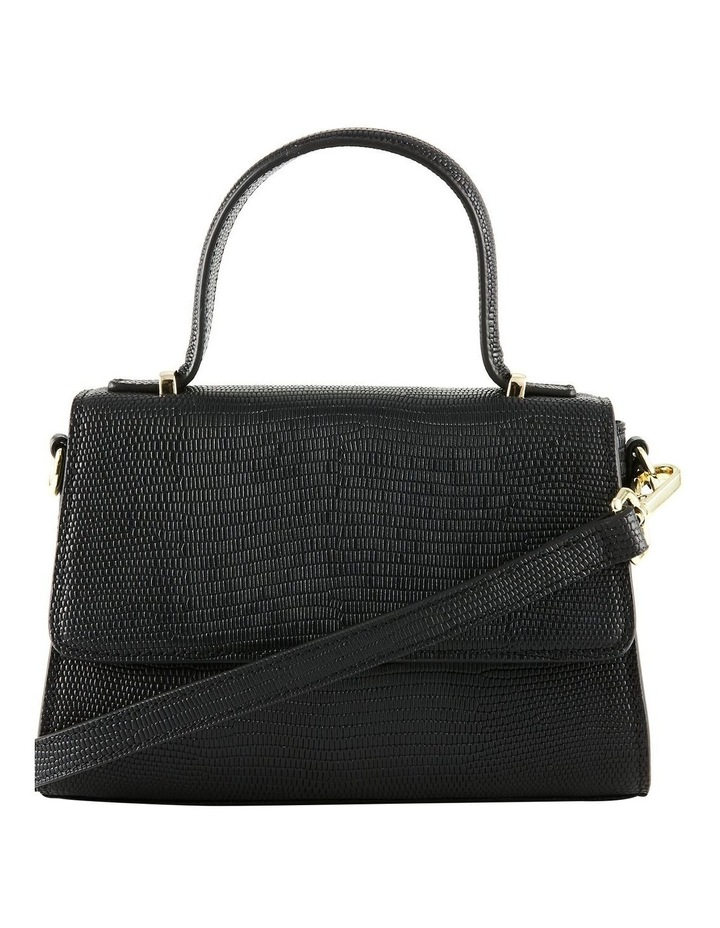 NVAW20-SB16 The Hilton Flap Over Black Crossbody Bag image 2