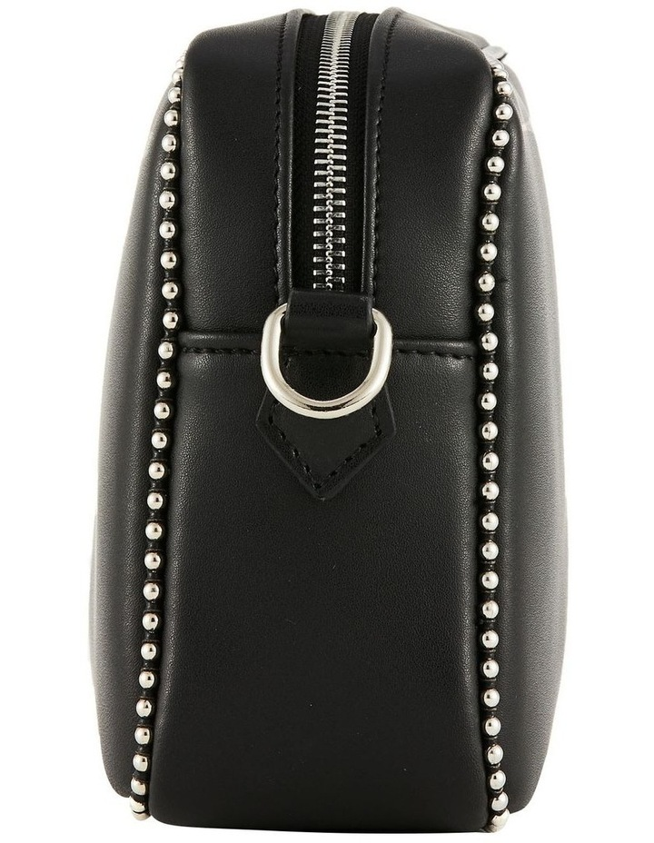 NVAW20-SB12 1995 Stud Silver Zip Around Black Crossbody Bag image 3