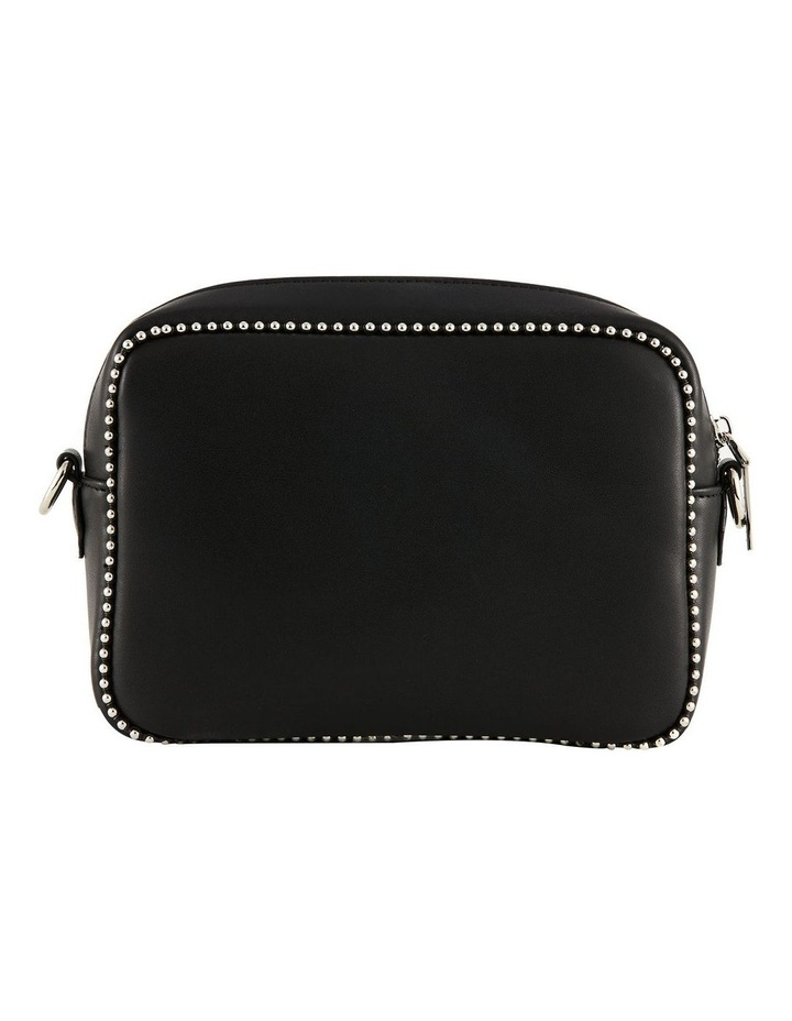 NVAW20-SB12 1995 Stud Silver Zip Around Black Crossbody Bag image 4