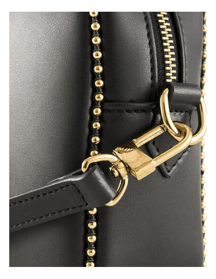 NVAW20-SB13 1995 Stud Gold Zip Around Black Crossbody Bag image 4