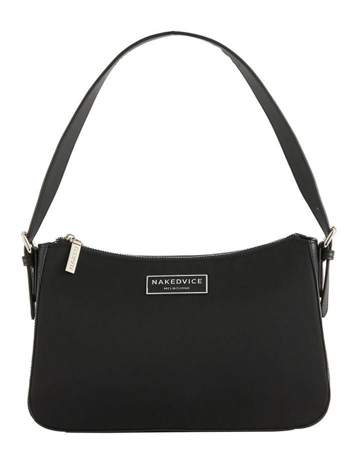 NVAW20-SB08 The Darcie Zip Top Black Shoulder Bag image 1