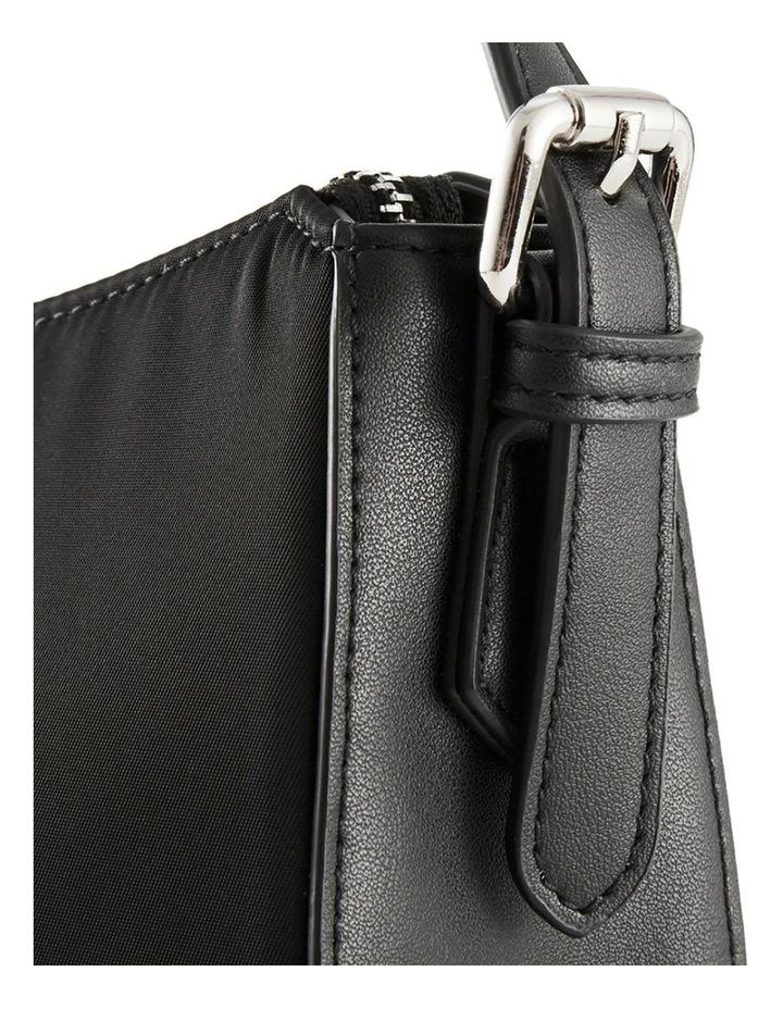 NVAW20-SB08 The Darcie Zip Top Black Shoulder Bag image 2