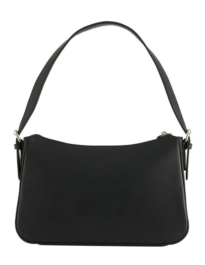 NVAW20-SB08 The Darcie Zip Top Black Shoulder Bag image 4