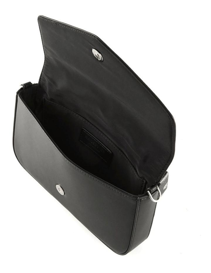 NVAW20-SB23 The Luca Flap Over Black Crossbody Bag image 3