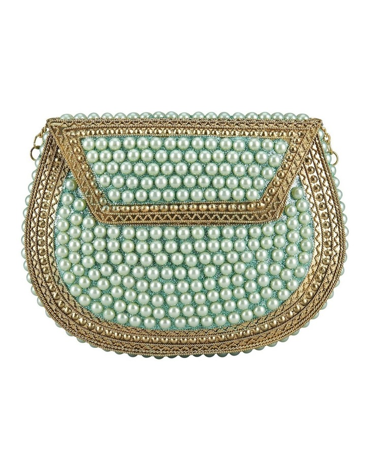 FSX202W012 Pearl Flap Over Clutch Bag image 1