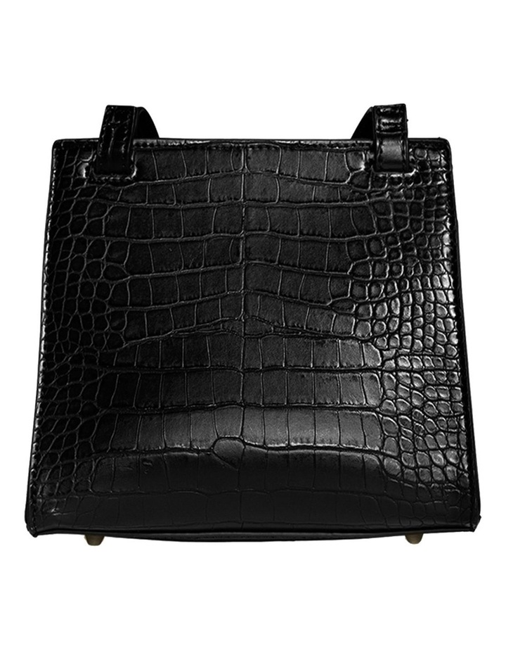 CHR120-CB-05 Christy Flap Over Black Crossbody Bag image 2