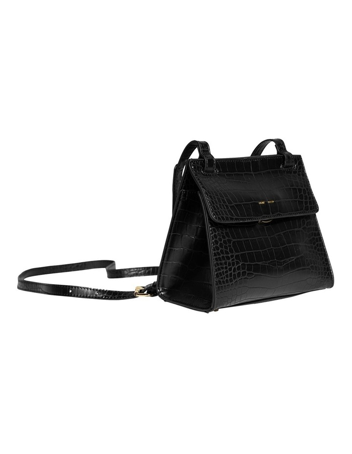 CHR120-CB-05 Christy Flap Over Black Crossbody Bag image 3