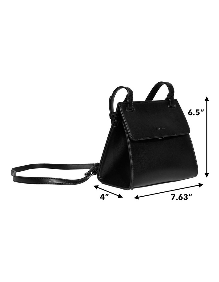 CHR120-CB-05 Christy Flap Over Black Crossbody Bag image 6
