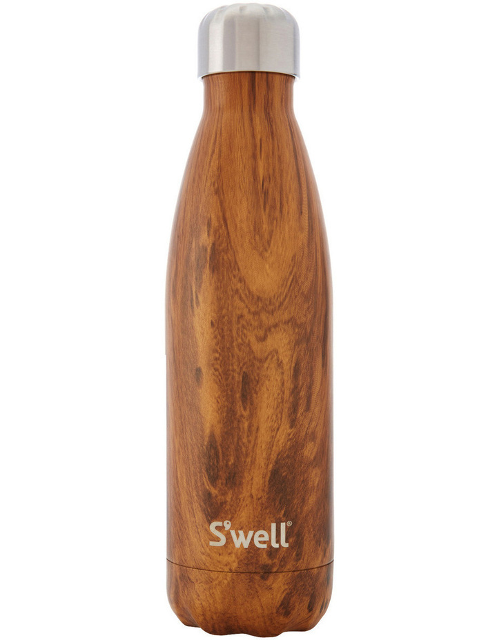 S'well Insulated Stainless Steel Water Bottle 500ml - Teakwood Water