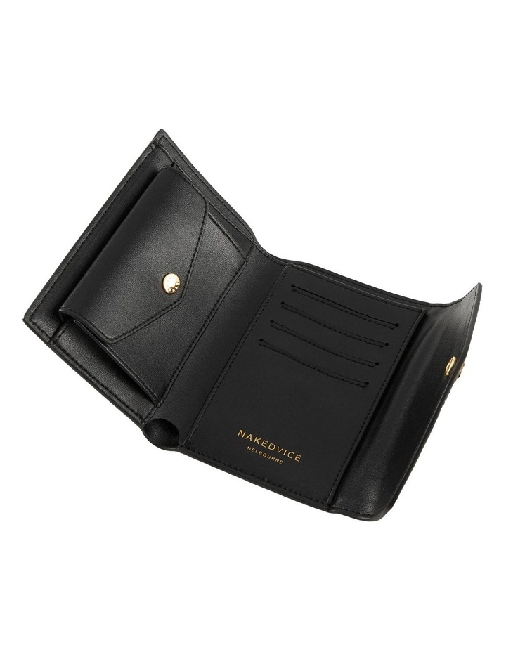 NVAW20-W04 The Ace Lizzie Tri-Fold Black Wallet image 2
