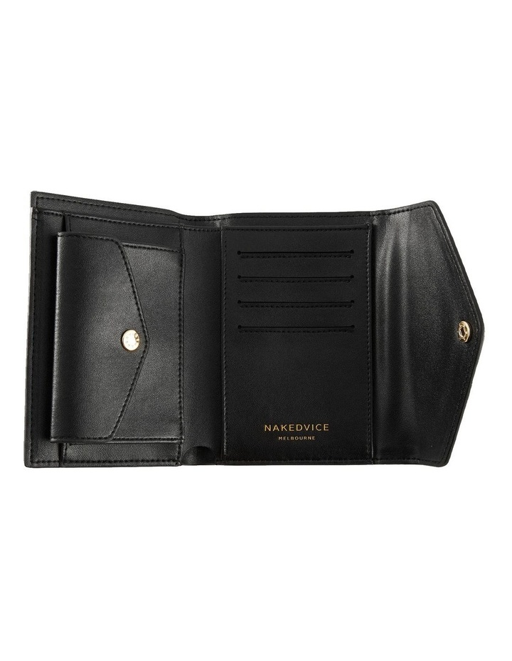 NVAW20-W04 The Ace Lizzie Tri-Fold Black Wallet image 3