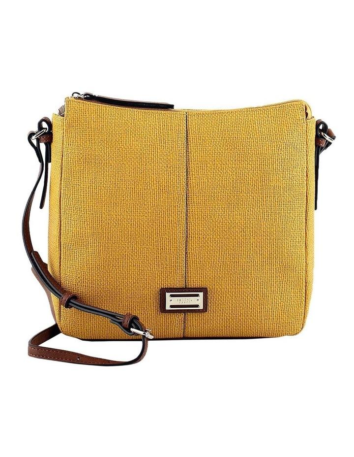 CSQ201 Audrey Zip Top Yellow Crossbody Bag image 1