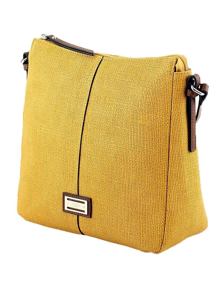 CSQ201 Audrey Zip Top Yellow Crossbody Bag image 2