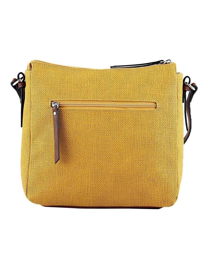 CSQ201 Audrey Zip Top Yellow Crossbody Bag image 3