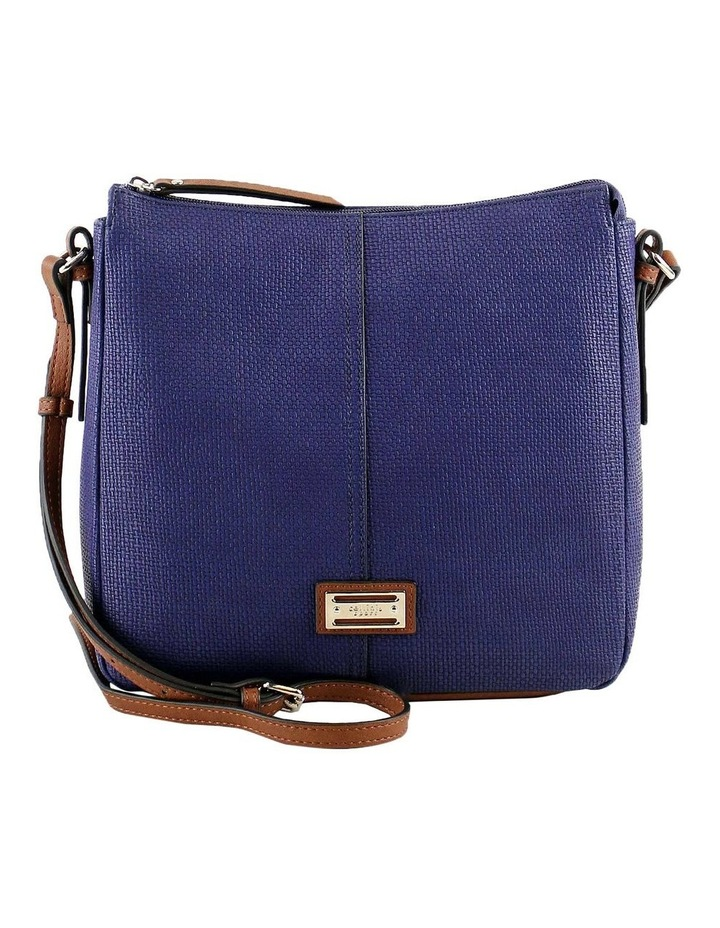 CSQ201 Audrey Zip Top Navy Crossbody Bag image 1