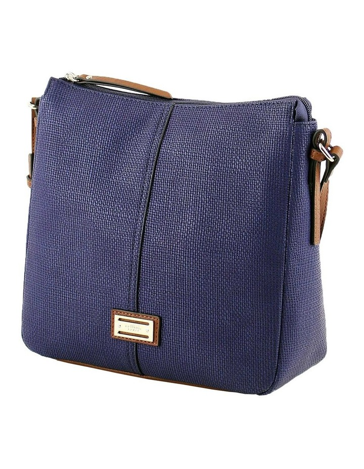 CSQ201 Audrey Zip Top Navy Crossbody Bag image 2