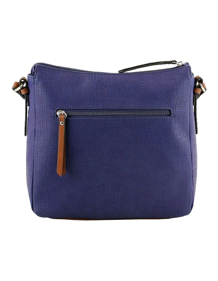 CSQ201 Audrey Zip Top Navy Crossbody Bag image 3