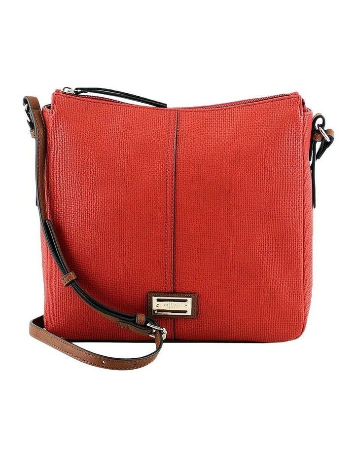 CSQ201 Audrey Zip Top Red Crossbody Bag image 1