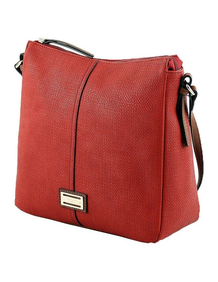 CSQ201 Audrey Zip Top Red Crossbody Bag image 2