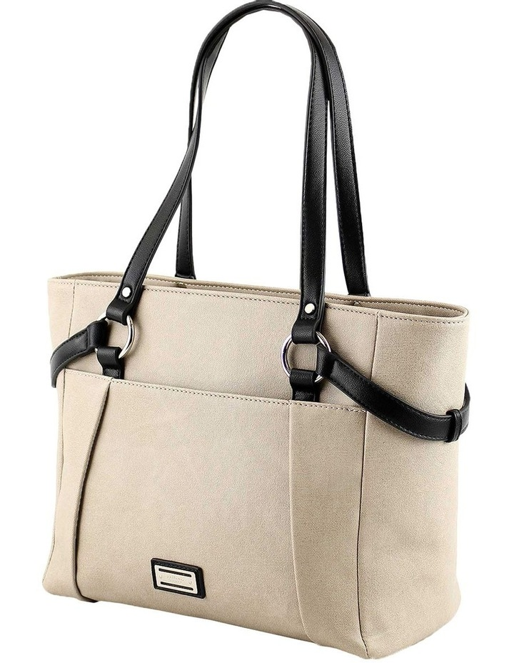 CSQ225 Francis Double Handle Taupe Tote Bag image 1
