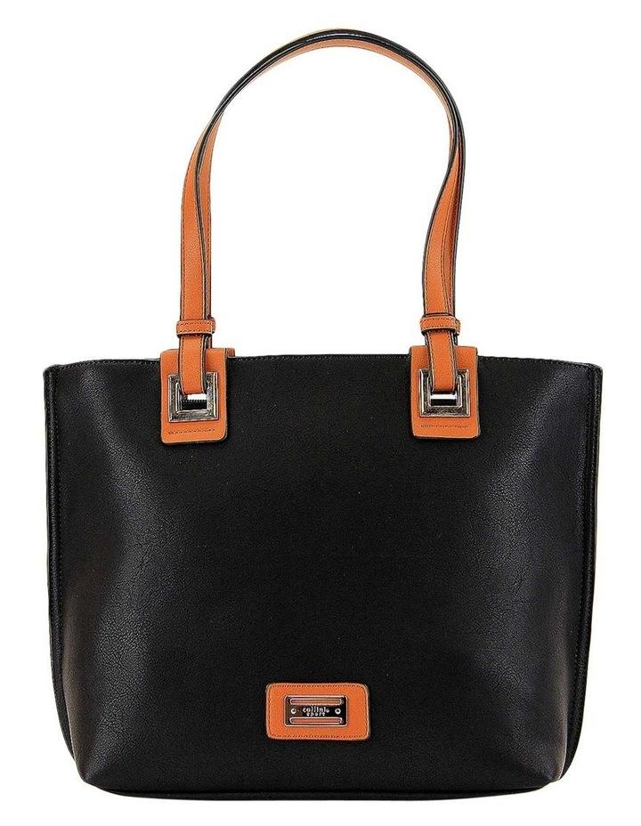 CSQ257 Renee Double Handle Black Tote Bag image 1