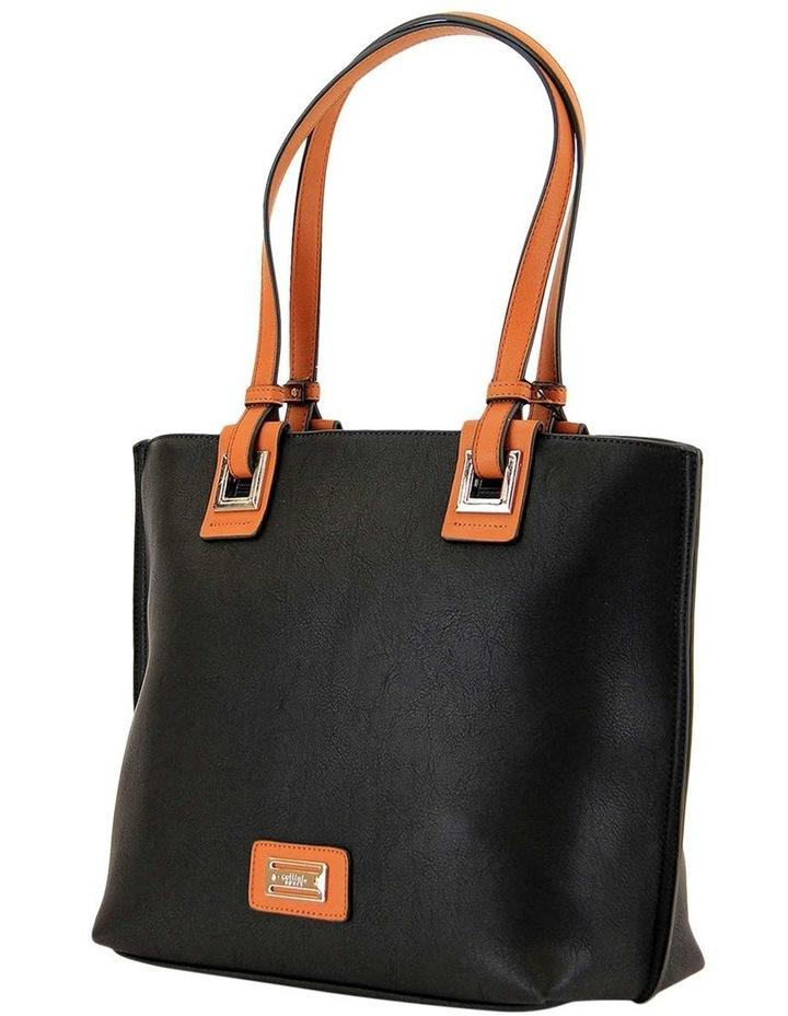CSQ257 Renee Double Handle Black Tote Bag image 2