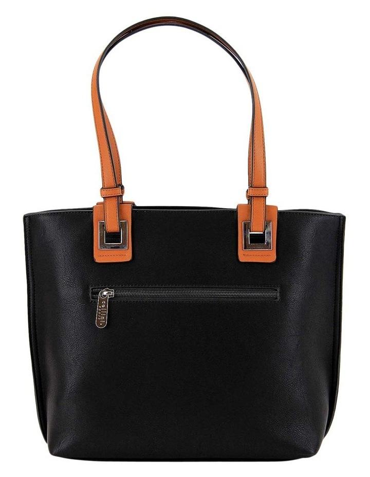 CSQ257 Renee Double Handle Black Tote Bag image 3