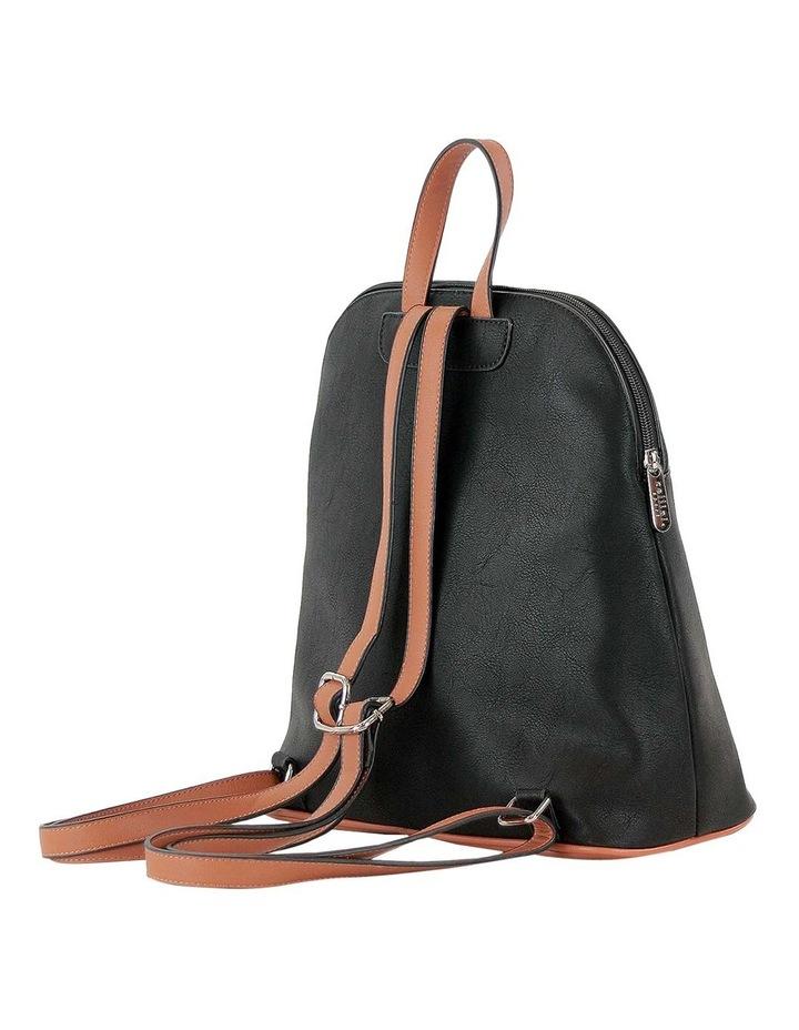 CSQ259 Renee Zip Around Black Back Pack image 2