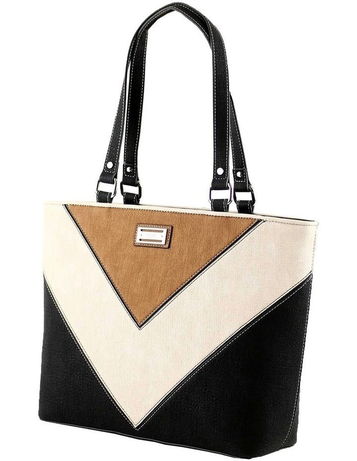 CSQ212 Caroline Double Handle Black Tote Bag image 2
