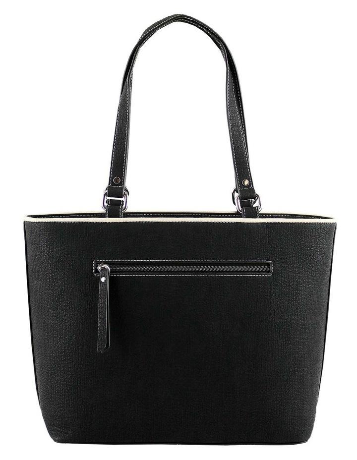 CSQ212 Caroline Double Handle Black Tote Bag image 3