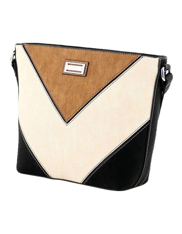 CSQ214 Caroline Zip Top Black Crossbody Bag image 2