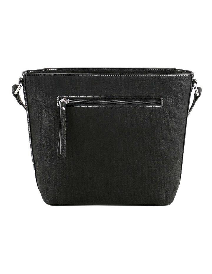 CSQ214 Caroline Zip Top Black Crossbody Bag image 3