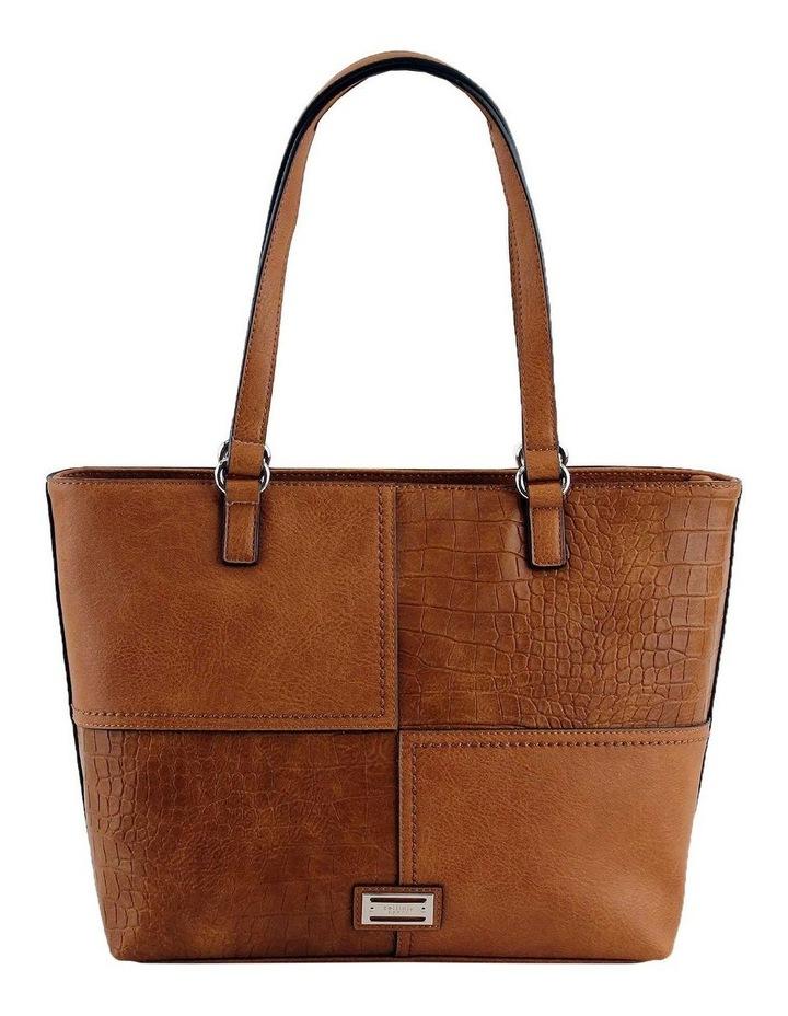CSQ247 Kara Double Handle Tan Tote Bag image 1