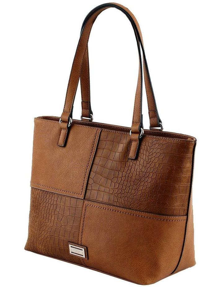 CSQ247 Kara Double Handle Tan Tote Bag image 2