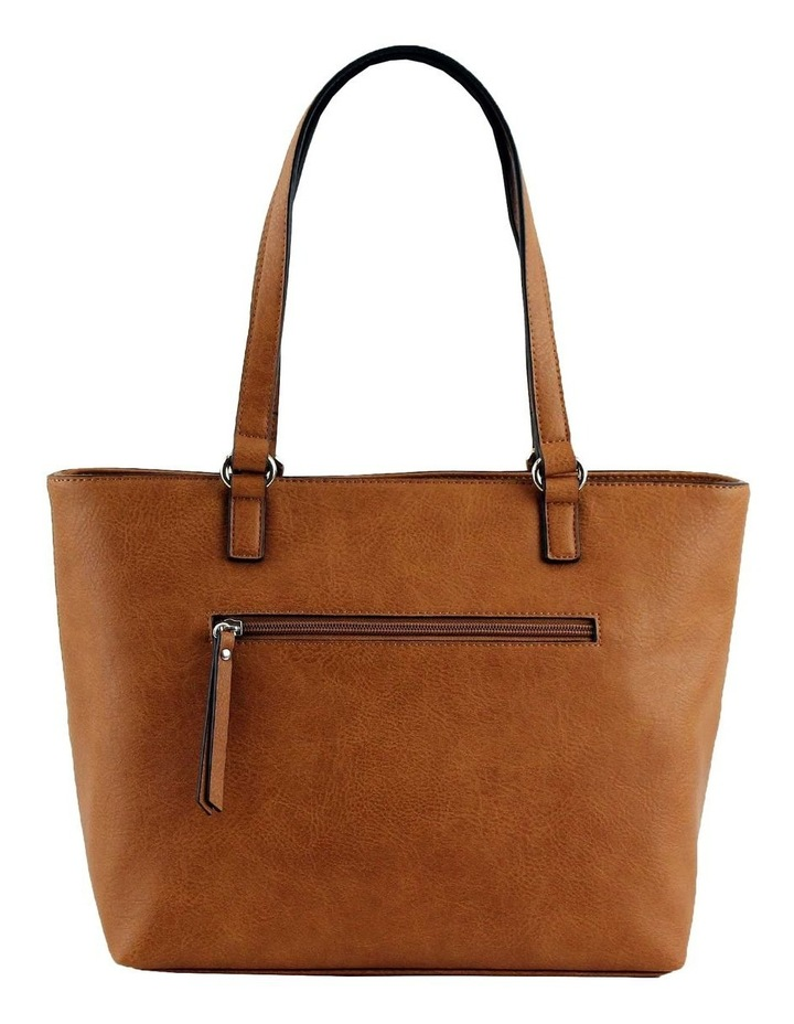 CSQ247 Kara Double Handle Tan Tote Bag image 3