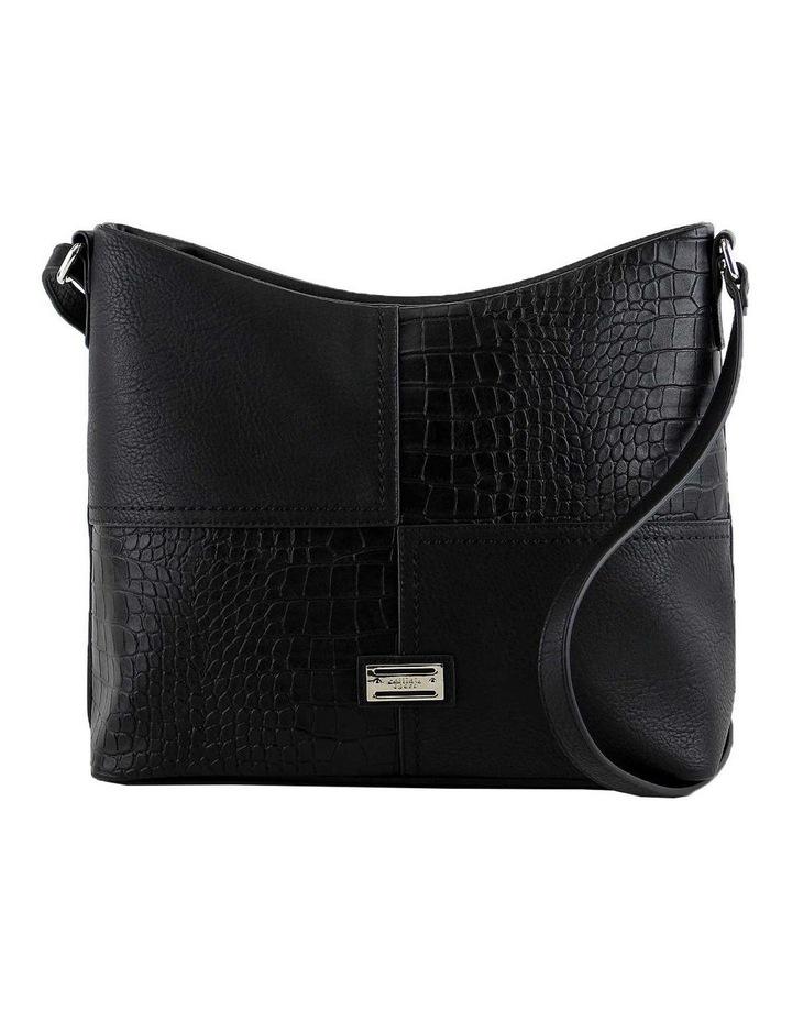 CSQ248 Kara Zip Top Black Crossbody Bag image 1