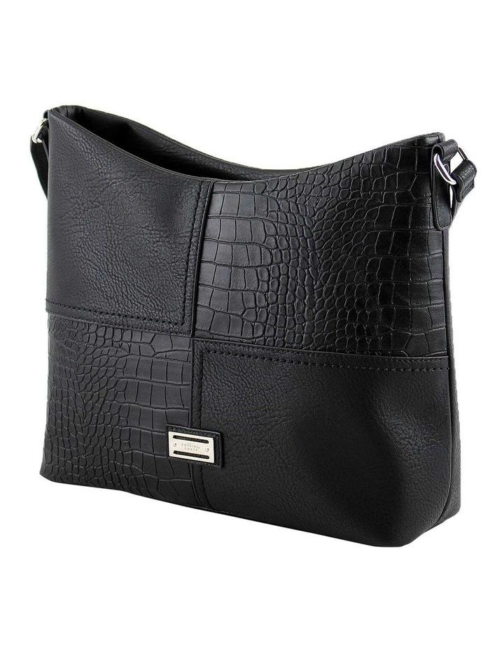 CSQ248 Kara Zip Top Black Crossbody Bag image 2