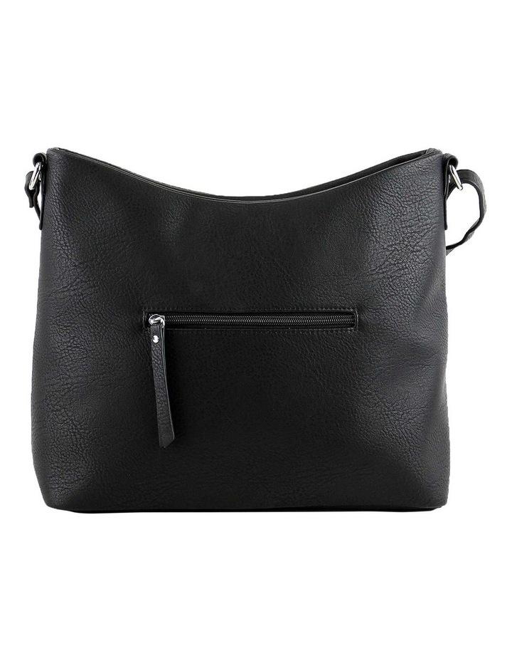 CSQ248 Kara Zip Top Black Crossbody Bag image 3
