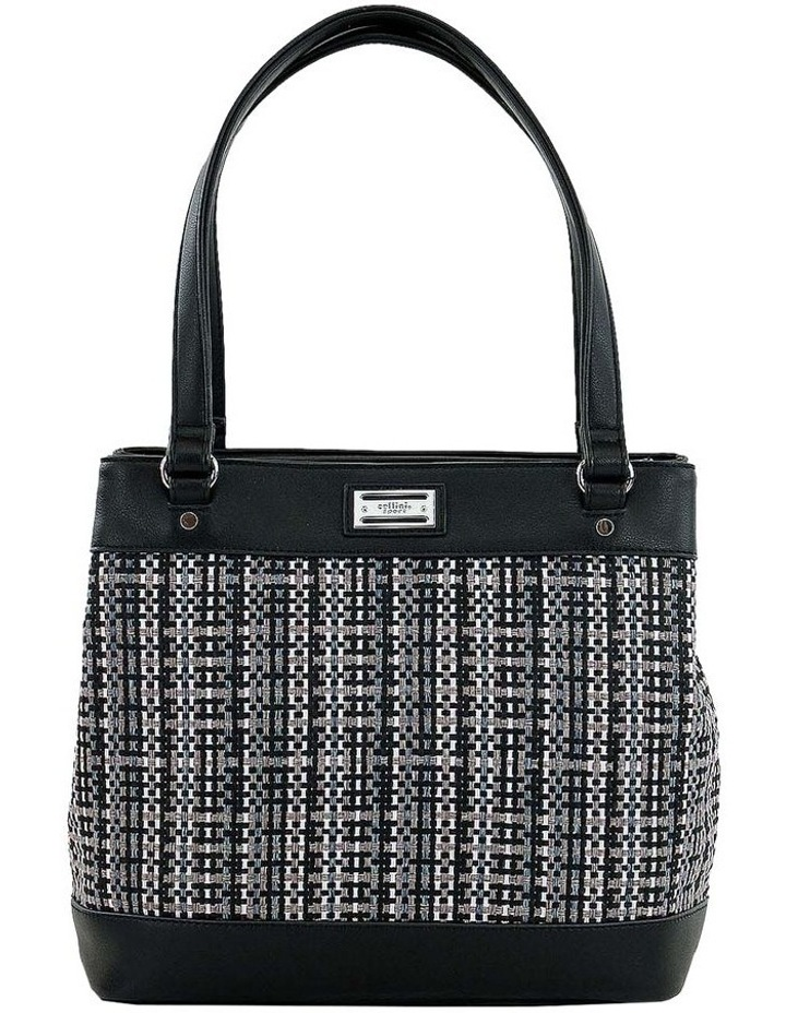CSQ234 Holly Double Handle Black Tote Bag image 1