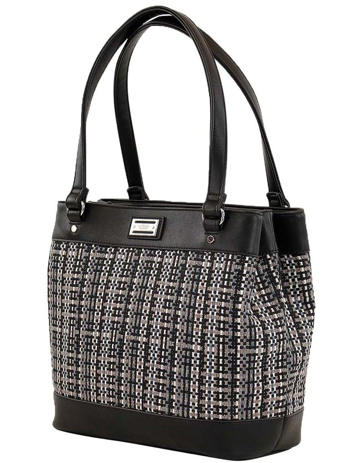 CSQ234 Holly Double Handle Black Tote Bag image 2