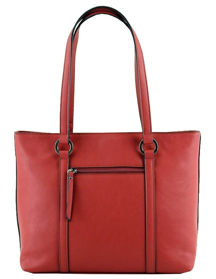 CSQ266 Pattie Double Handle Red Tote Bag image 3