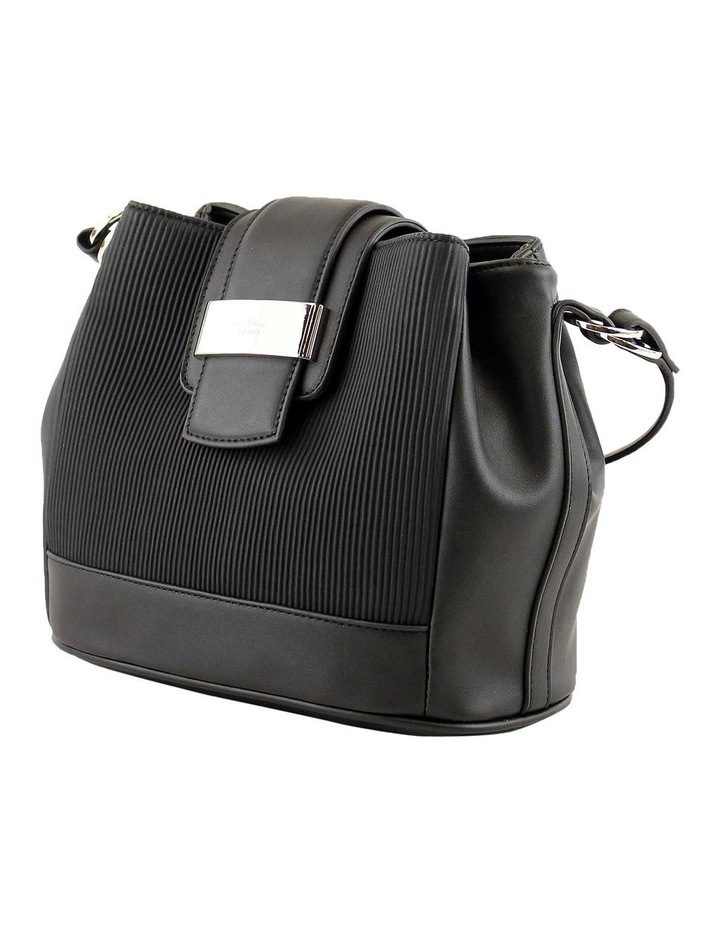 CSQ267 Pattie Flap Over Black Crossbody Bag image 2